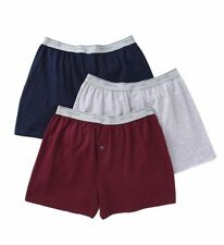 Fruit Of The Loom 3P722 Mens 100% Core Cotton Assort Knit Boxers- 3 Pack