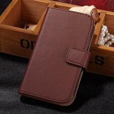 For Samsung Galaxy Y S5360 Luxury Wallet Genuine Real Leather Flip Case Cover
