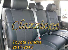 2014-2016 TOYOTA TUNDRA DOUBLE CAB | CLAZZIO LEATHER SEAT COVER (1ST+2ND ROWS)