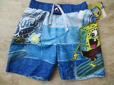 NEW NICKELODEON SPONGEBOB SQUAREPANTS BOYS SWIM SHORTS TRUNKS SIZES 4 & 6 $24