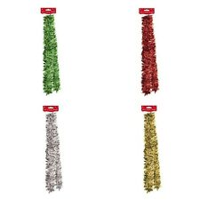 2m 6.5ft Luxury Chunky Christmas Tinsel Tree Decoration SILVER RED GOLD GREEN