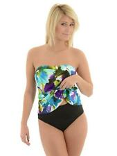 NEW Miraclesuit Size 12 or 14 Bandeau Floral 2-PC Tankini Swimsuit $150 NWT