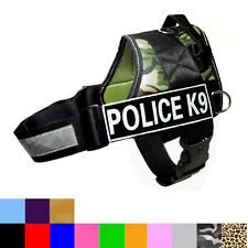 Police SERVICE Dog Reflective Harness Dog Vest with Removable Magic Patches tag