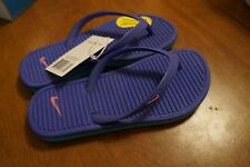 NEW Nike Solarsoft Girl's Flip Flops Thong Sandals in Purple/Mint