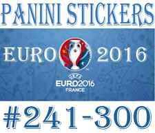 #241-300 Panini Euro 2016 STICKERS - Choose your sticker incl foil / badge