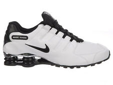 NEW MENS NIKE SHOX NZ RUNNING SHOES TRAINERS WHITE / BLACK / WOLF GREY