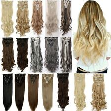 100% Real As Human New Thick Hair Clip In Hair Extensions Full Head Blonde H81