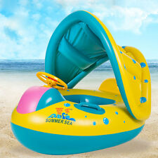 Baby Infant Child Float Seat Boat Swim Ring Inflatable Portable Yellow