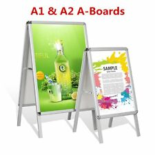 A-Board Aluminium Pavement Sign Snap Poster Snap Frame Double Side Display Stand