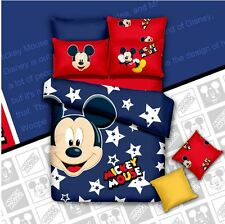 *** Star Mickey Mouse Single Bed Quilt Cover Set - Flat or Fitted Sheet ***