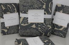NEW NWT POTTERY BARN Shibori Floral Blue KING DUVET COVER 3 Euro SHAMS 4PCS set