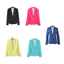 Casual Slim Solid Suit Blazer Jacket Coat Outwear Women Fashion Candy Color JBCA