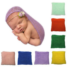 Crochet Knitted Cocoon Baby Photo Accessories Photography Prop Backdrop Natural