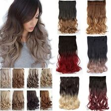 Real Natural 1pcs in 3/4 Full Head Hair Extensions Extension As Human Hair H818