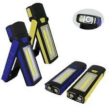 2pcs LED COB Camping Work Inspection Light Lamp Hand Torch Magnetic YH
