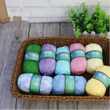 50g Bamboo Cotton Hand Knitting Soft Yarn Baby Cotton Yarn Knitted Multi-colors