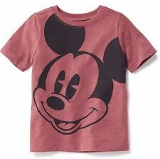 Disney MICKEY MOUSE Tee Size 12 18 months Old Navy Short Sleeve Top Red NEW