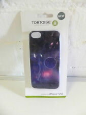 TORTOISE GENUINE HARD SHELL CASE WITH FOR IPHONE 5 5S PURPLE GLITTER DESIGN