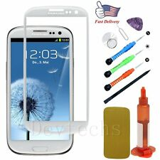 Replacement Front Touch Screen Glass Lens/Tools/UV Glue For Samsung Galaxy S3