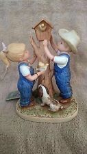 "Nice Denim Days Figurine -  ""Our Birdhouse ""  #8888 HOMCO HOME INTERIORS 1985"