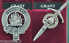 Grant Scottish Clan Crest Badge or Kilt Pin Ships free in US