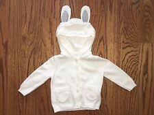 New Ivory GYMBOREE Bunny Ear Sweater Jacket, size 6/12 & 18/24 months, 4T/ & 5T