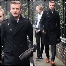 MEN'S STYLISH LONG DOUBLE BREASTED TRENCH OVERCOAT PEA COAT-BNWT  This jacket is