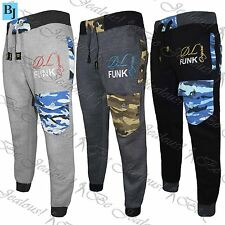 Mens DL Funk Army Pockets Tracksuit Bottom Fleece Gym Jogging Jogger Sweat Pants