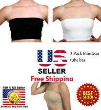 Pack of 3 Seamless Women's Bandeau Top Nylon Spandex -Buy 3 Set Get 1Set Free