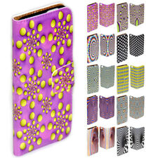 For Lumia 950XL 950 650 640 Optical Illusion Print Flip Wallet Phone Case Cover
