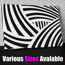 AB637 Modern Black White Stripes Canvas Wall Art Abstract Picture Print X