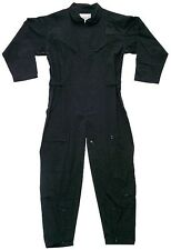 FLIGHTSUIT BLACK USAF STYLE COVERALL ROTHCO 7502 (army bdu conbet swat police)