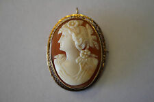 VINTAGE CAMEO PIN/PENDENT SET IN 14KT YELLOW GOLD 10.4 g TOTAL