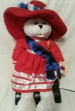 "Chantilly Lane Musical Animated Bear ""God Bless America"""