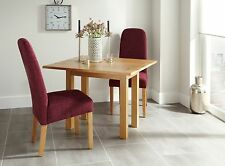 Stanton Extendable Dining Table and 2 Chairs Leather Seats Quality Solid Oak