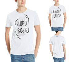 Hugo Boss Men's Sports Casual Boss Green Graphic Logo T-shirt In White 50312850