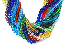 10 Strands Mixed Handmade Glass Beads Imitate Austrian Crystal Faceted Abacus US
