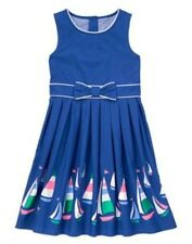 NWT Gymboree Girls Dress Sailboat Races Blue Bow Stripe and Anchor 5