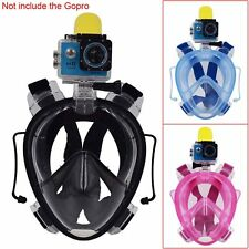 180° Panoramic Anti-fogging Dry Dive Full Face Snorkel Mask W/ Earplug Set