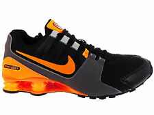 NEW MENS NIKE SHOX AVENUE RUNNING SHOES TRAINERS BLACK / TOTAL ORANGE / WOLF GRE