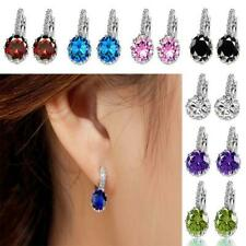 1Pair Ladies Bridal Wedding Crystal Rhinestone Ear Stud Earring Ear Clip Jewelry
