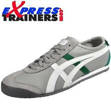 Onitsuka Tiger Mens Mexico 66 Vintage Leather Trainers Grey AUTHENTIC