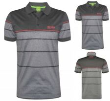 HUGO BOSS MEN'S PADDY PRO 2 BOSS GREEN LOGO COTTON POLO T-SHIRT GRAY 50316390