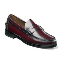 Florsheim Mens Shoes Berkley Burgundy Leather beef roll penny loafer 17058-05