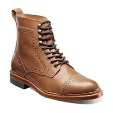 Men Stacy Adams Madison Ankle boot Madison II Tan Leather Cap Toe 00062 High top