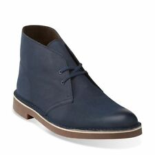 Clarks Originals Bushacre II Desert Boot Navy Leather Comfortable  26112316