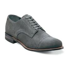 New Stacy Adams Mens Madison Shoes Gray Suede Cap toe oxford Dressy 00066-061