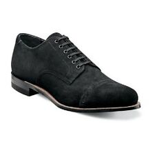 New Stacy Adams Mens Madison Shoes Black Suede Cap toe oxford Dressy 00066-008