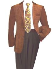 Men's Casual Blazer By INSERCH Patch Pockets and Elbow Style 506 Aztec Brown NEW