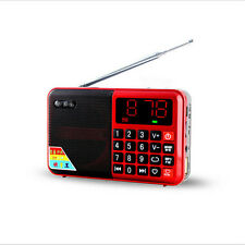 Portable FM Radio Speaker Rechargeable LED Display Stereo USB MP3 Player